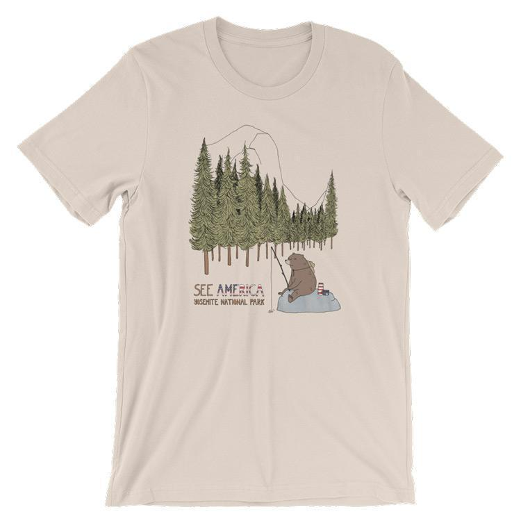 Yosemite National Park Men's T-Shirt by Naomi Sloman