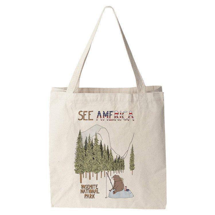 Yosemite National Park Tote Bag by Naomi Sloman Tote Bag See America