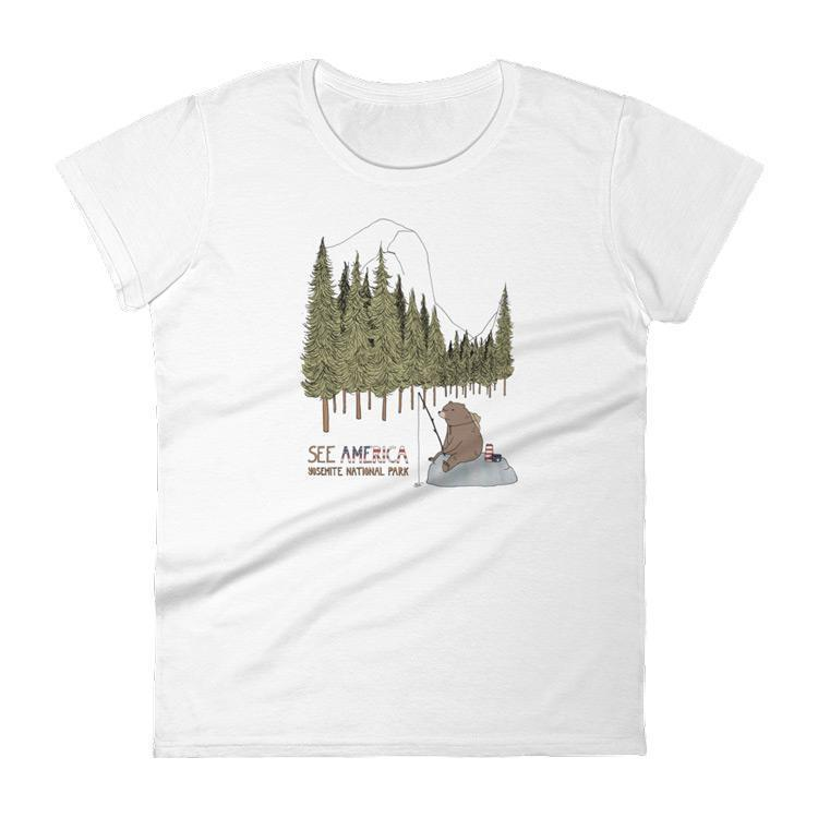 Yosemite National Park Women's T-Shirt by Naomi Sloman S / White T-Shirt See America