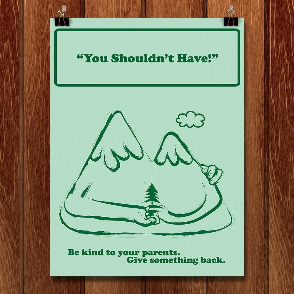 "You Shouldn't Have by Jon-Paul Villegas 12"" by 16"" Print / Unframed Print Green Patriot Posters"