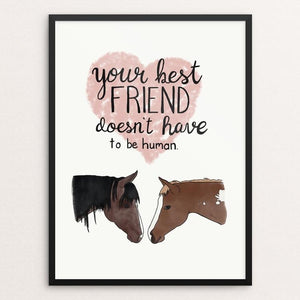 "Your Best Friend by Jessica Gerlach 12"" by 16"" Print / Framed Print Creative Action Network"