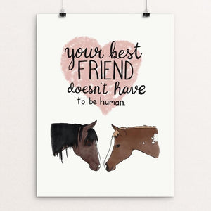 "Your Best Friend by Jessica Gerlach 12"" by 16"" Print / Unframed Print Creative Action Network"