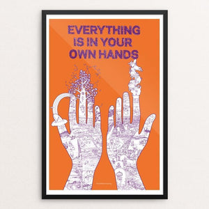 "Your Own Hands by L. Bogoni & N. Brönner 12"" by 18"" Print / Framed Print Power to the Poster"