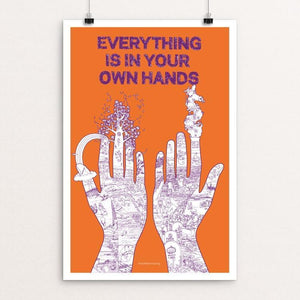 "Your Own Hands by L. Bogoni & N. Brönner 12"" by 18"" Print / Unframed Print Power to the Poster"