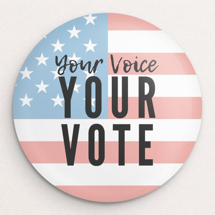 Your Voice, Your Vote Button by Shannon Carnevale Single Buttons Vote!