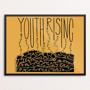"Youth Rising by Jennifer Bloomer 12"" by 16"" Print / Framed Print Creative Action Network"