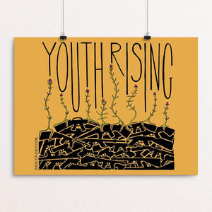 "Youth Rising by Jennifer Bloomer 12"" by 16"" Print / Unframed Print Creative Action Network"