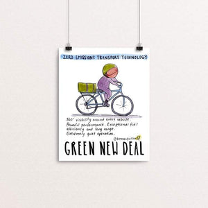 "Zero Emissions Technology by Brenna Quinlan 8"" by 10"" Print / Unframed Print Green New Deal"