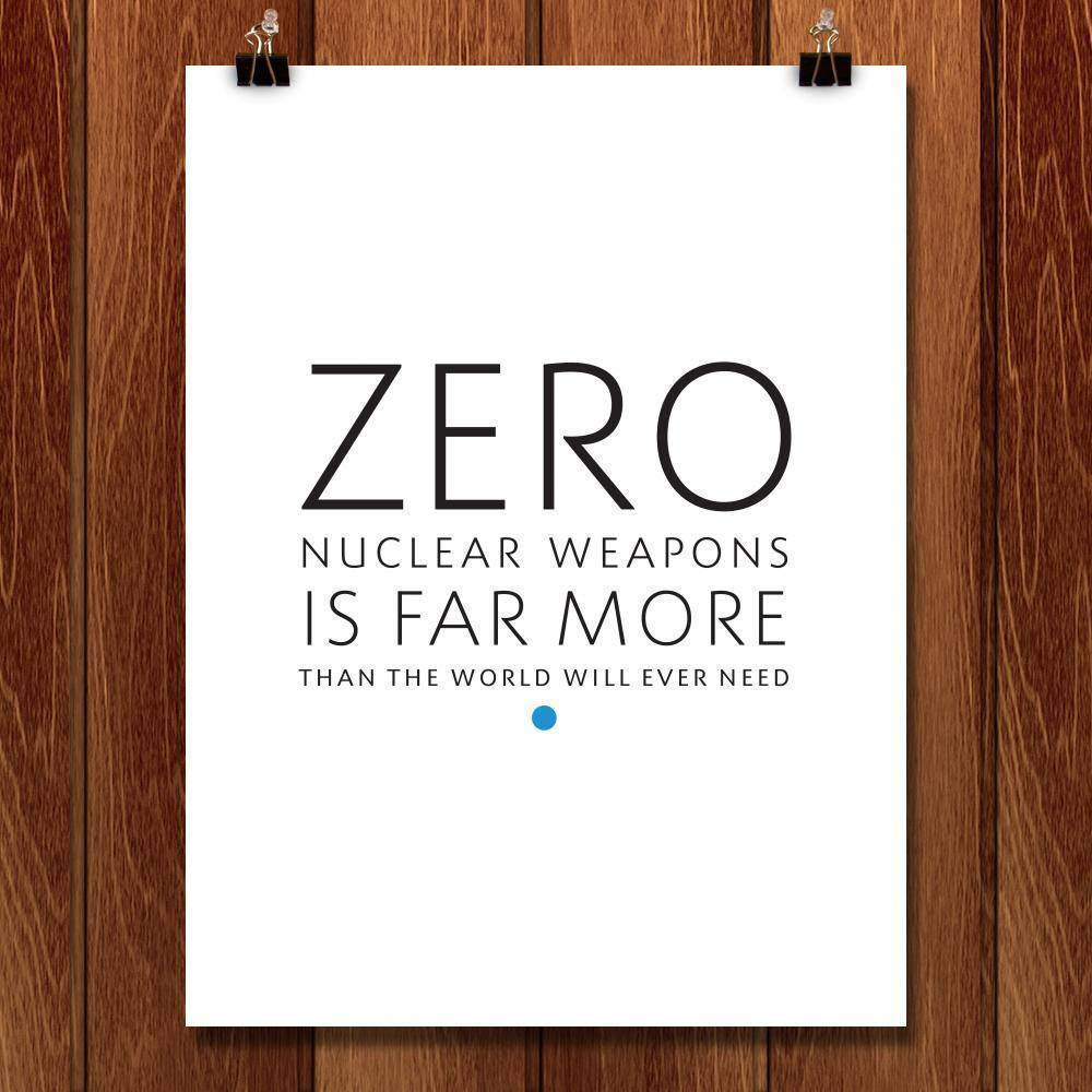 "Zero Is More Than We Need by Chris Lozos 18"" by 24"" Print / Unframed Print Demand Zero"