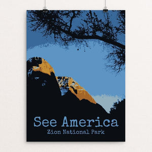"Zion National Park 3 by Rendall M. Seely 12"" by 16"" Print / Unframed Print See America"