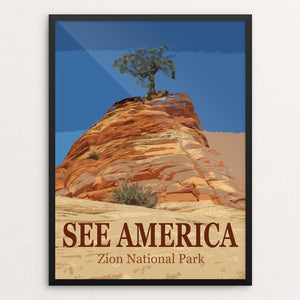 "Zion National Park by Bill Vitiello 12"" by 16"" Print / Framed Print See America"