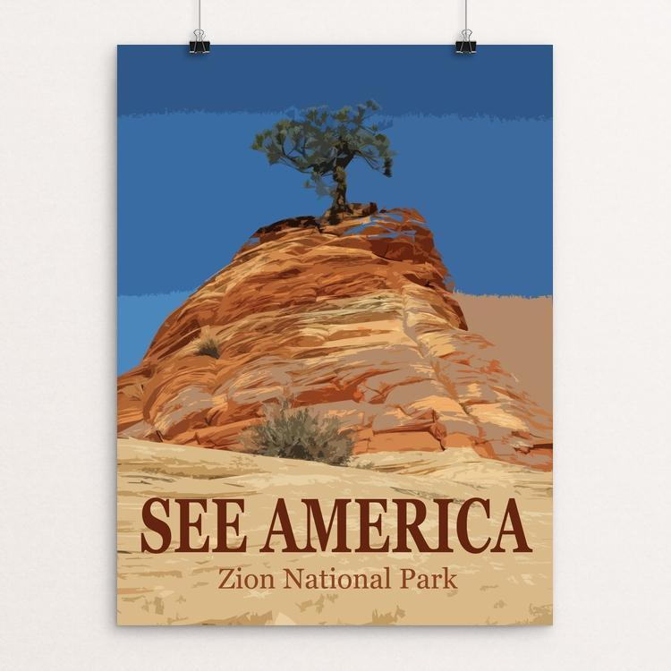 "Zion National Park by Bill Vitiello 12"" by 16"" Print / Unframed Print See America"