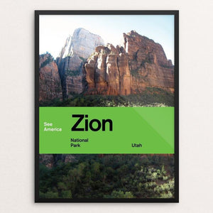 "Zion National Park by Brandon Kish 12"" by 16"" Print / Framed Print See America"
