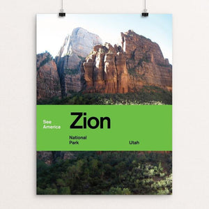 "Zion National Park by Brandon Kish 12"" by 16"" Print / Unframed Print See America"