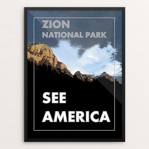 "Zion National Park by Tyler Baird 12"" by 16"" Print / Framed Print See America"