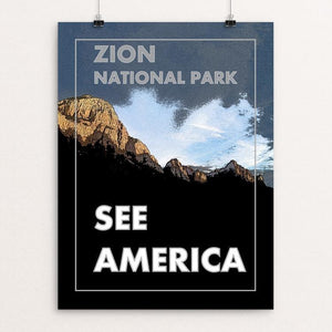 "Zion National Park by Tyler Baird 12"" by 16"" Print / Unframed Print See America"