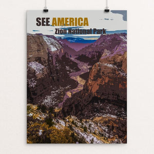 "Zion National Park by Zachary Bolick 12"" by 16"" Print / Unframed Print See America"