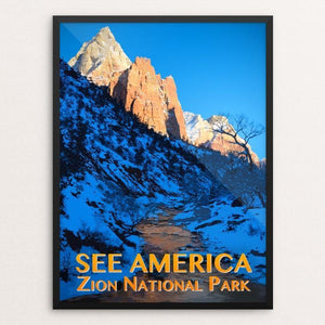 "Zion National Park by Zack Frank 12"" by 16"" Print / Framed Print See America"