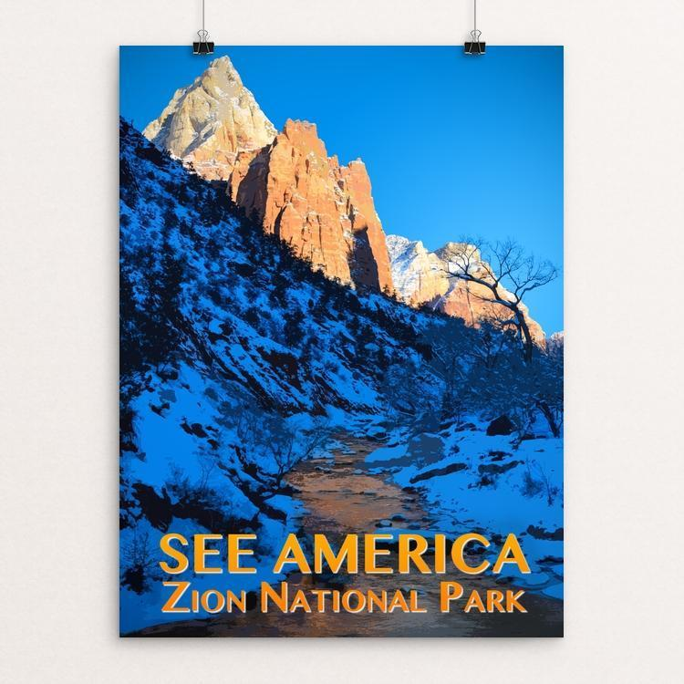 "Zion National Park by Zack Frank 12"" by 16"" Print / Unframed Print See America"