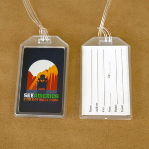 Zion National Park Luggage Tags by Luis Prado Lustre Paper Luggage Tag See America