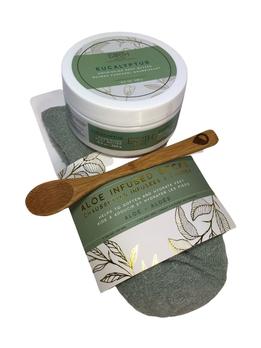 ALOE VERA SPA SOCKS & NOURISHING BODY BUTTER - EUCALYPTUS