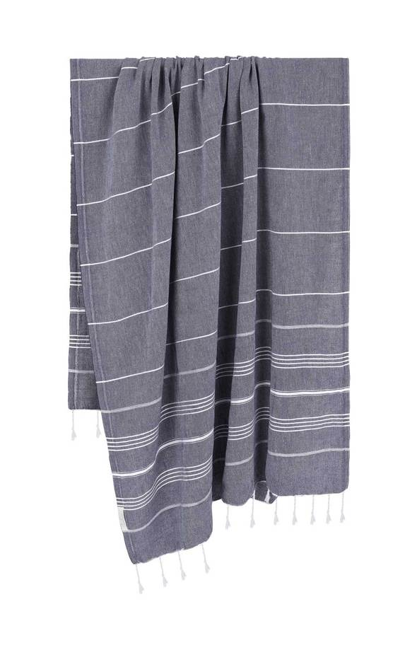Light Navy Turkish Towel by The Handloom