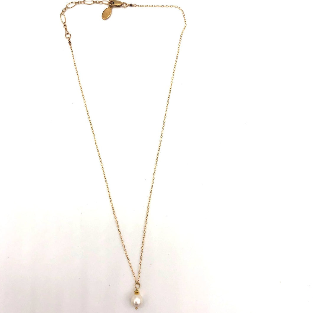 Pearl Pendent Necklace by Flying Lizard Design