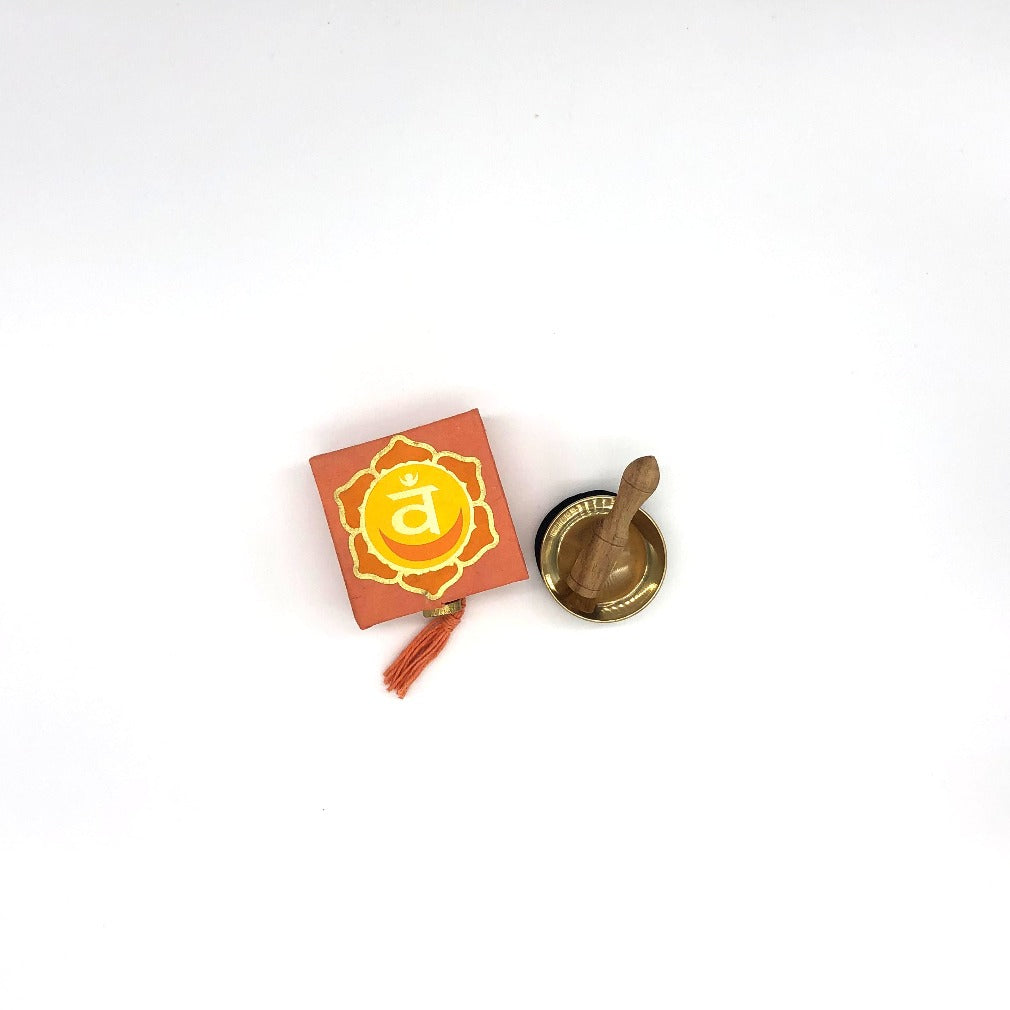DZI 2nd Chakra Meditation Bowl with Orange Box