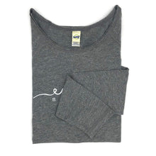 Load image into Gallery viewer, Esalen Script Tee in Heather Gray size Medium