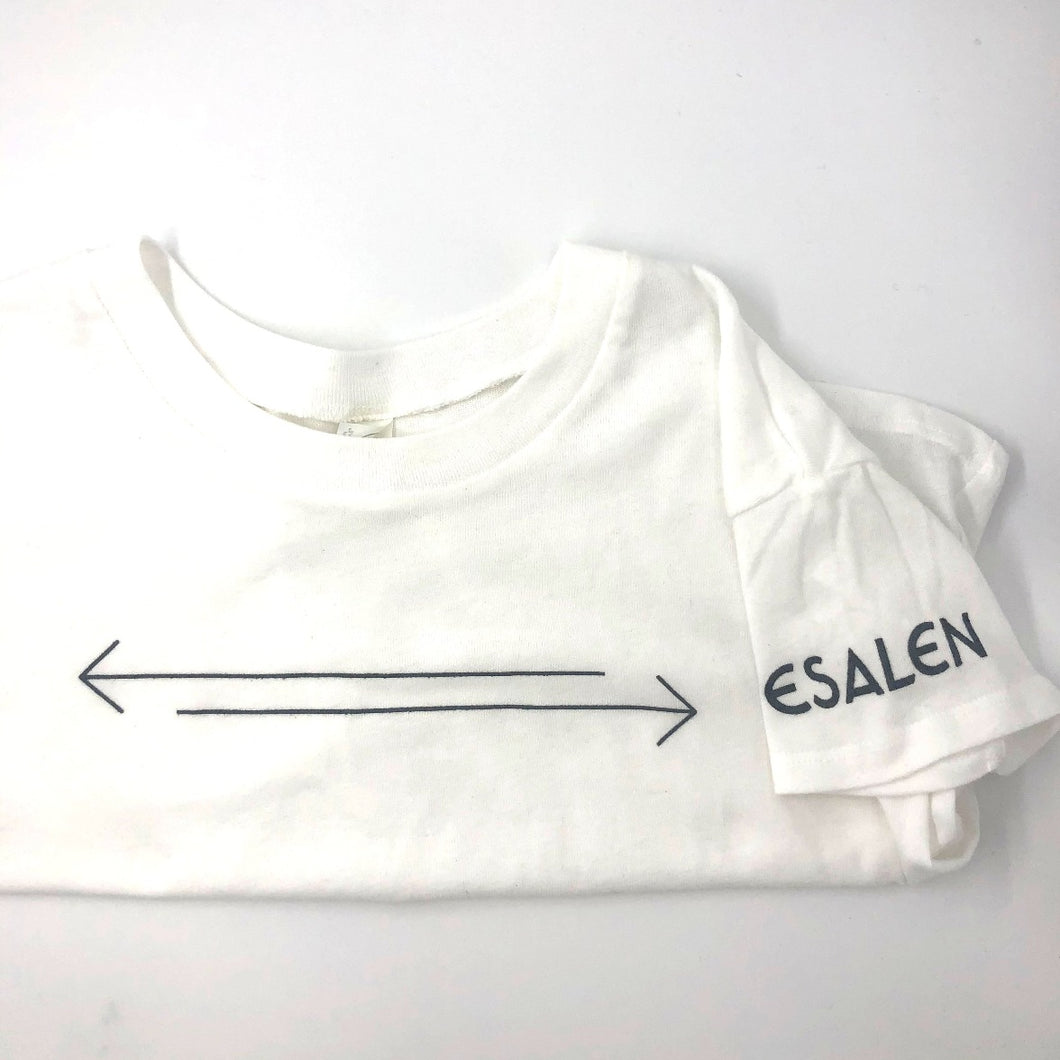 Esalen Cropped T'shirt in White, Size XL