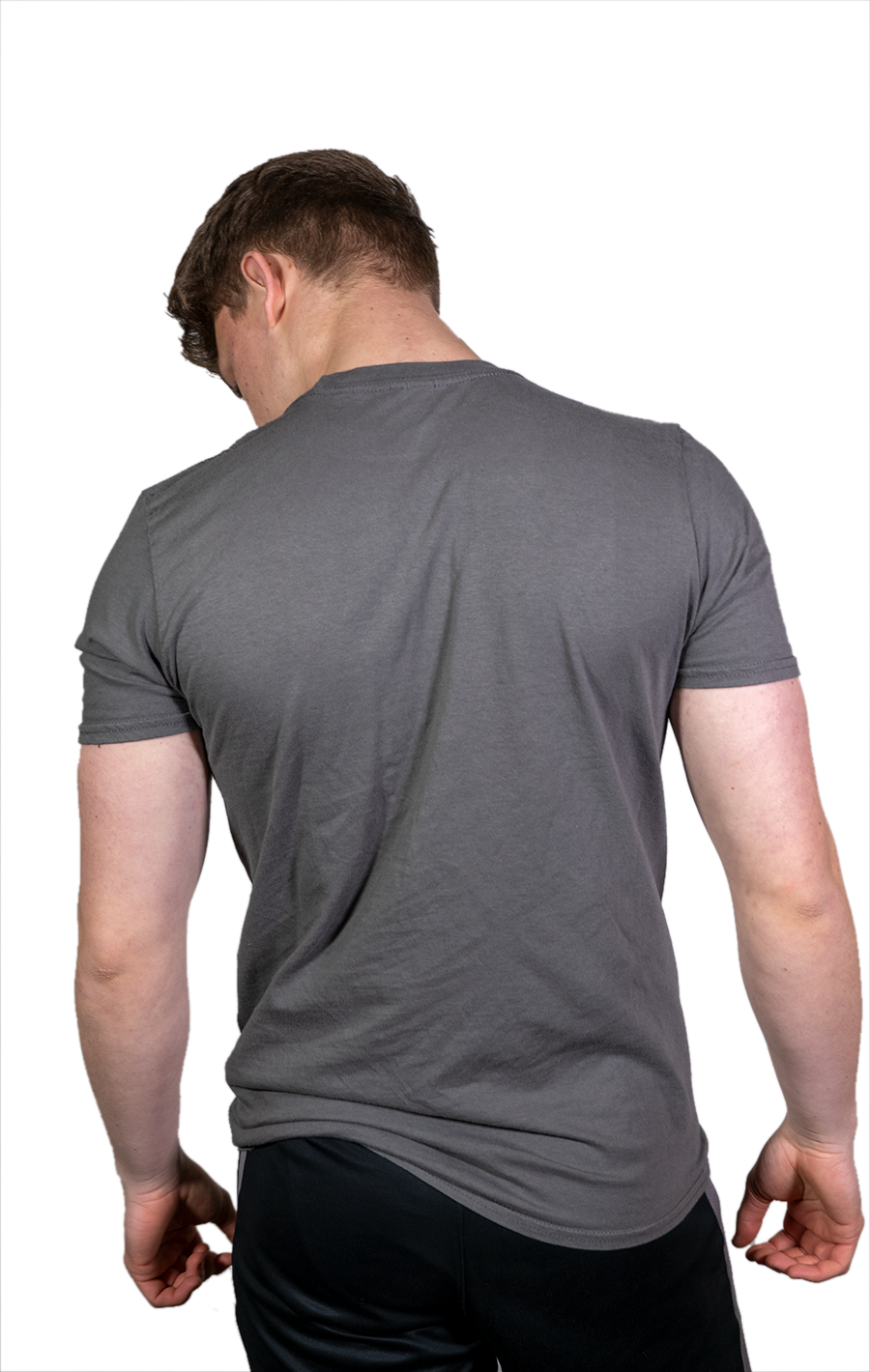 Short Sleeve Grey T Shirt with Black Evolve