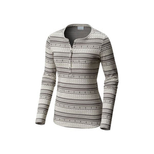 Columbia Women's Hood Mountain Lodge Jacquard Henley