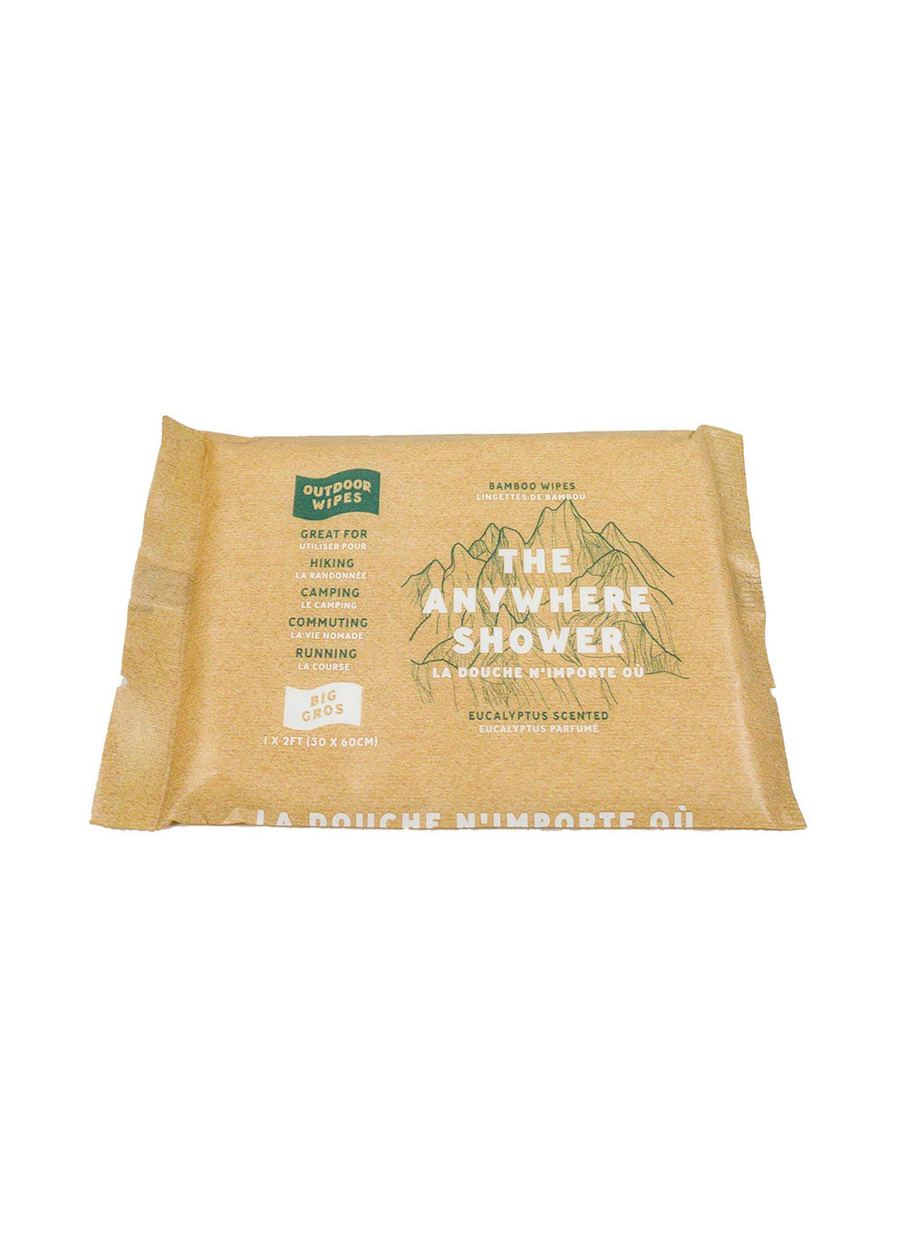 Outdoor Wipes The Anywhere Shower Eucalyptus Size Big