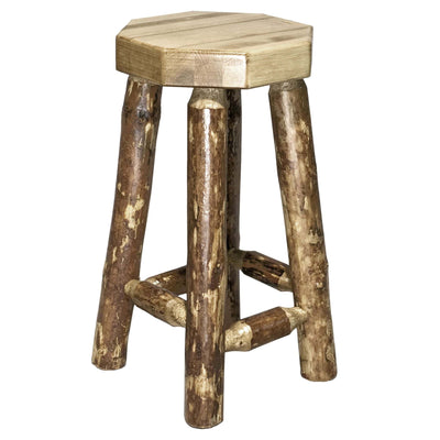 DIY Home Bar Montana Woodwork's Glacier Country Collection Backless Barstool MWGCBN