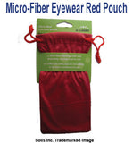 Red Micro-Fiber Eyewear Pouch with Draw String