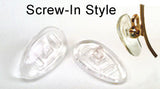 Soft Silicon Screw-In Style Eyewear Nose Pads (2 Pair)