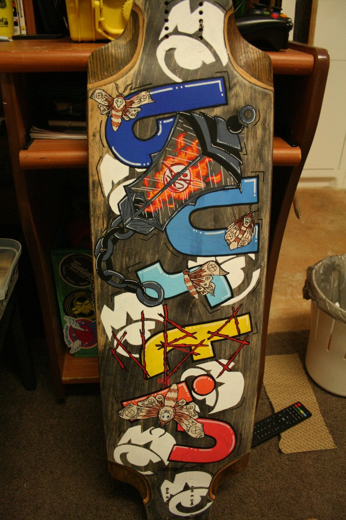 longboard custom graphics