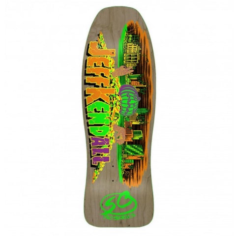 "SANTA CRUZ - JEFF KENDALL PUMPKIN NATURAL 10.0"" REISSUE SKATEBOARD DECK"