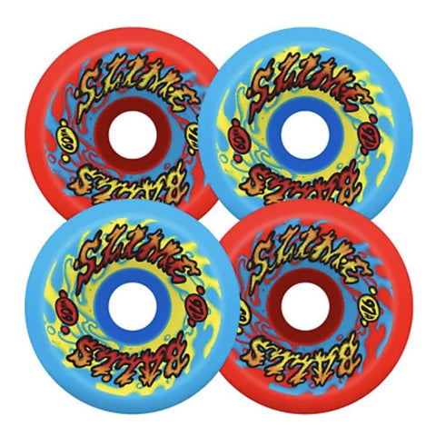 Santa Cruz | Slime Balls 97A Gooberz Vomits Mix Ups Skateboard Wheels | 60mm
