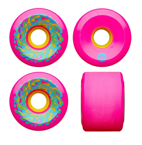 Santa Cruz Slime Balls OG Neon Pink 66mm 78a Skateboard Wheels