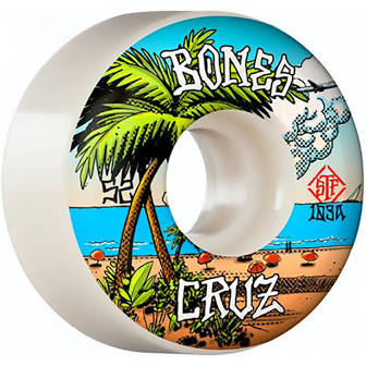 Bones Skateboard Wheels STF Cruz Buena Vida V2 Locks 52mm 103A
