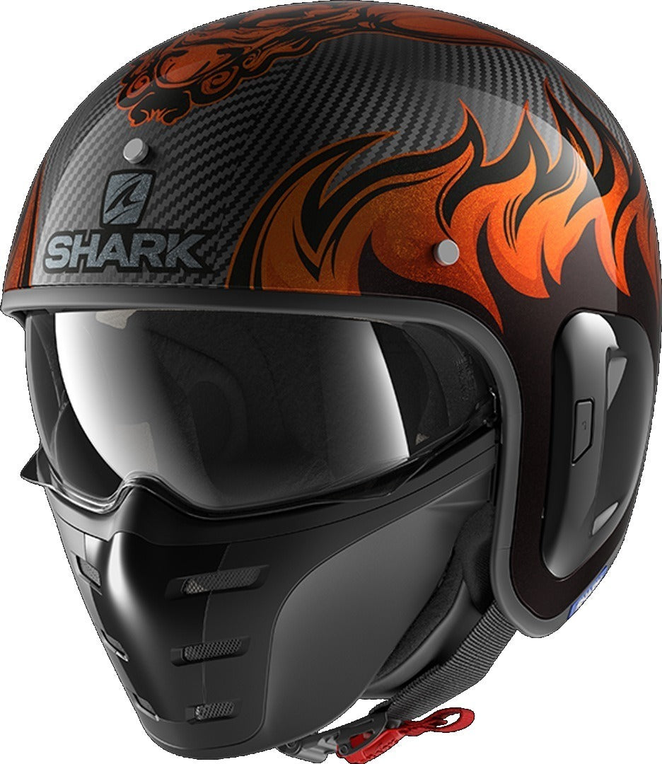 Shark S-drak 2 carbon dagon doo, maat XS. OUTLET