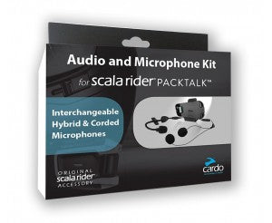 CARDO SCALA RIDER PACKTALK AND SMARTPACKAUDIO EN MICROFOON KIT