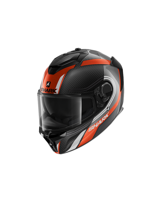 SHARK Spartan GT Carbon Tracker, carbon antracite white orange