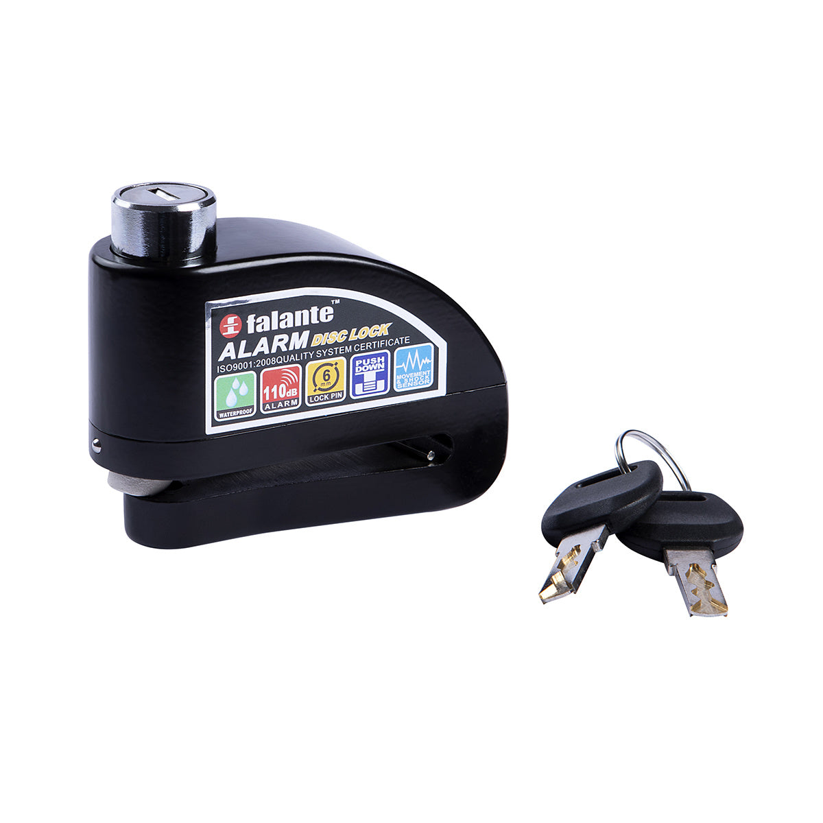 CLAW Disc Lock with Alarm Black