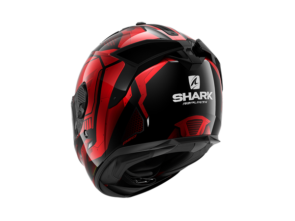SHARK SPARTAN GT REPLIKAN Black Chrome Red