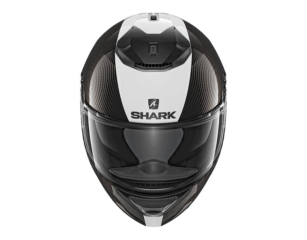 SHARK SPARTAN CARB 1.2 SKIN CARBON WHITE SILVER