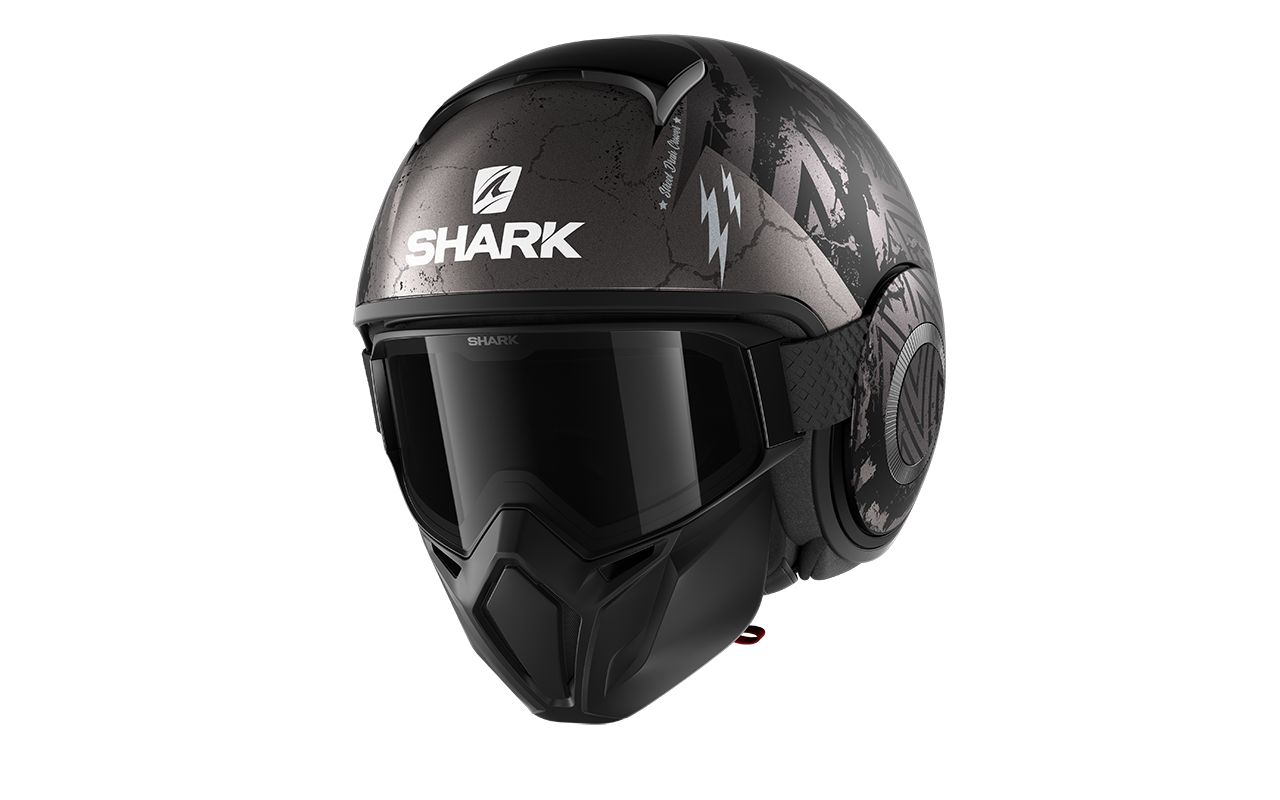 SHARK STREET DRAK CROWER Mat Black Antracite Silver