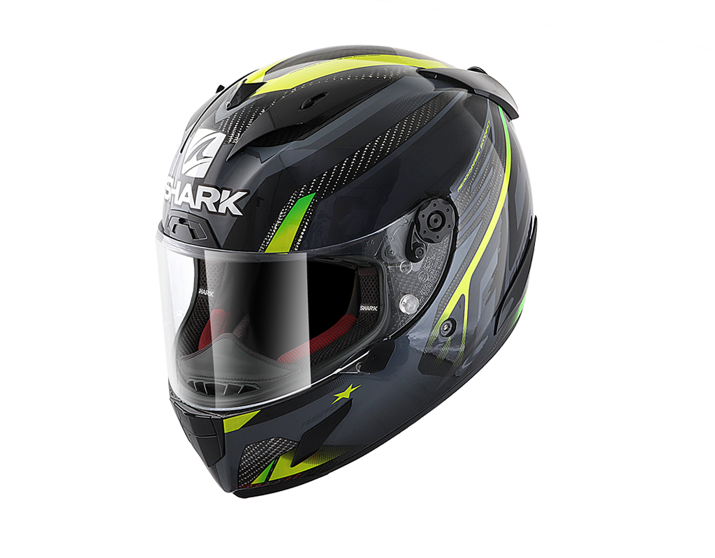 SHARK RACE-R PRO CARBON ASPY  Carbon Antracite Yellow