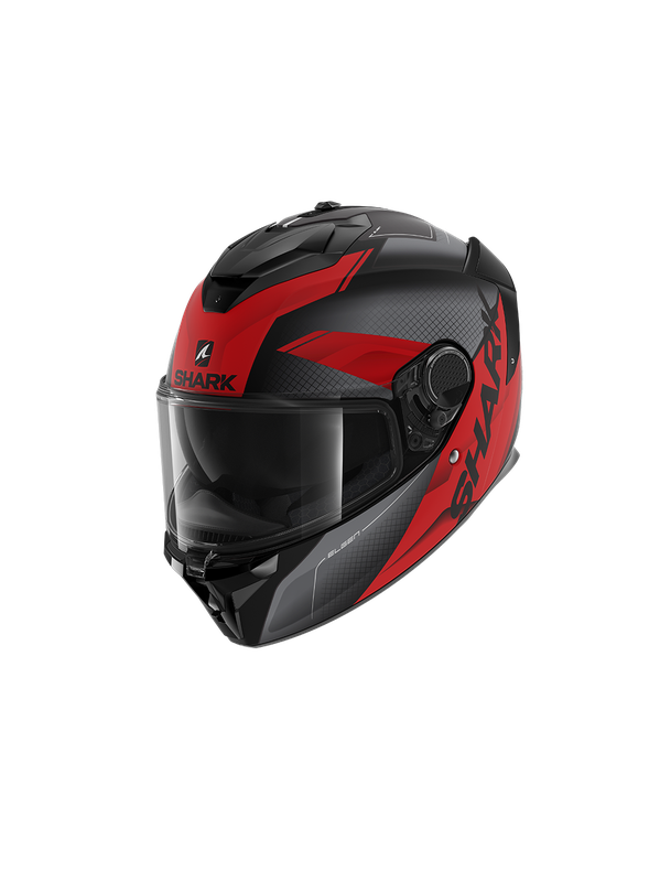 SHARK Spartan GT Elgen Mat black antracite red